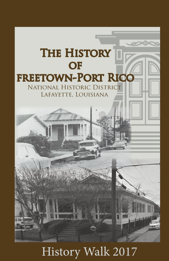 Cover Freetown Historic District Tour Book
