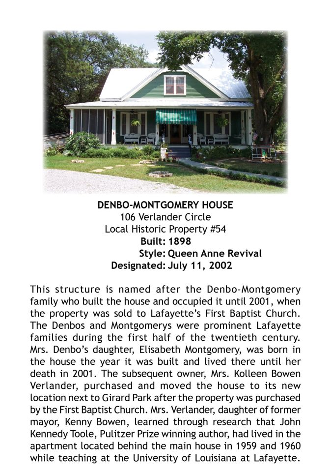 Denbo montgomery house preservation alliance of lafayette for Montgomery house