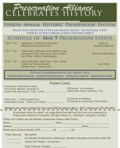 Preservation History Walk Flyer9